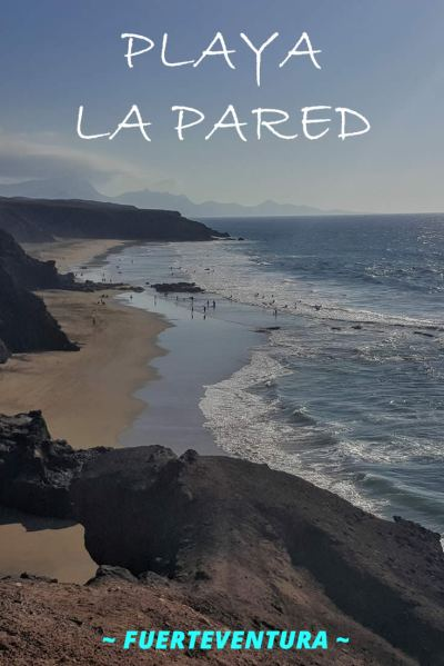 Playa La Pared - wild beach on the west coast of Fuerteventura