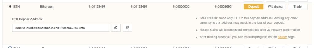binance ethereum deposit address