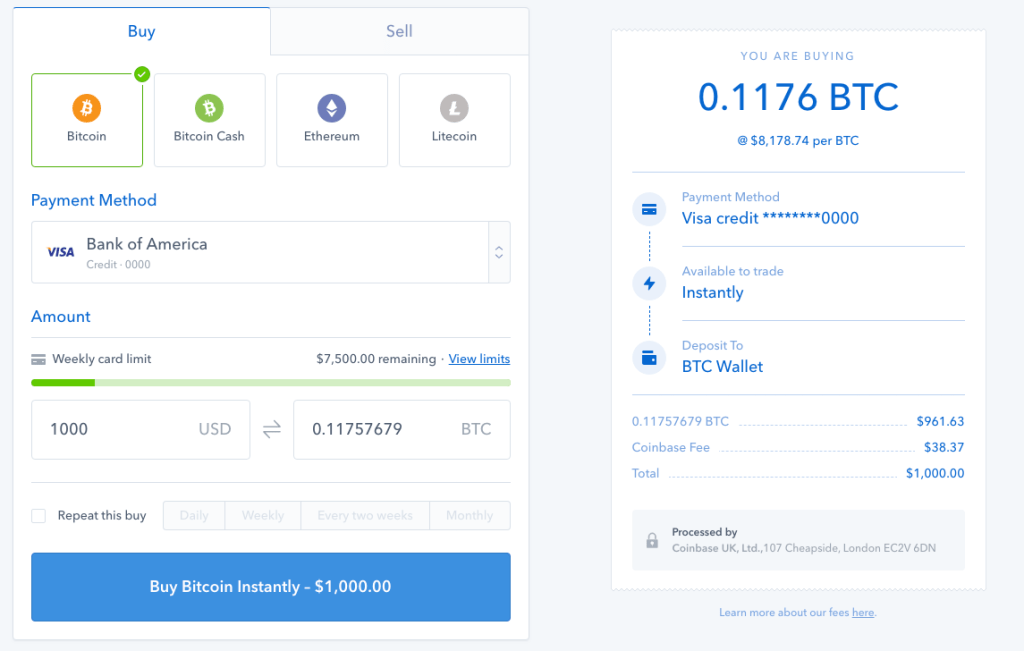coinbase buy 1000 bitcoin