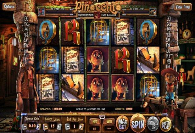 Pinocchio 3D Video Slot