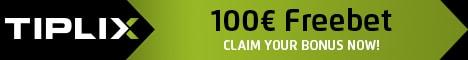 Get a € 100 Free Bet Bonus at Tiplix