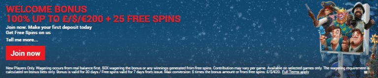 €/£/$ 200 Welcome Bonus + 25 Free Spins at Quid Slots Casino