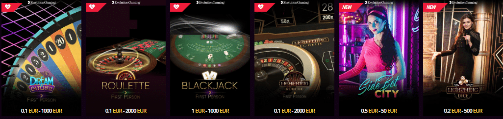 Live Dealer Games at LV Bet Live Dealer Casino