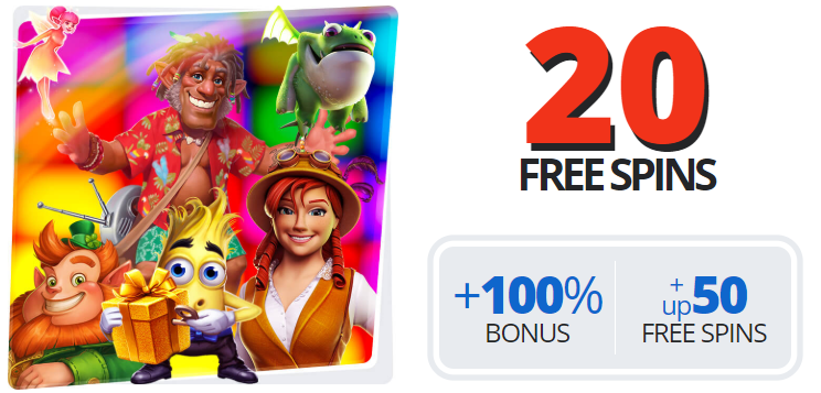 Get 20 Free Spins No Deposit + a 100% Bonus + up to 50 Free Spins at EgoCasino