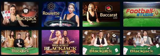 Live Dealer Games at Slotzo Casino