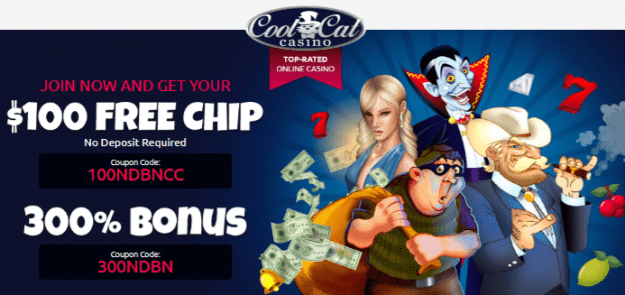 Get a $100 Free Chip at Cool Cat Casino