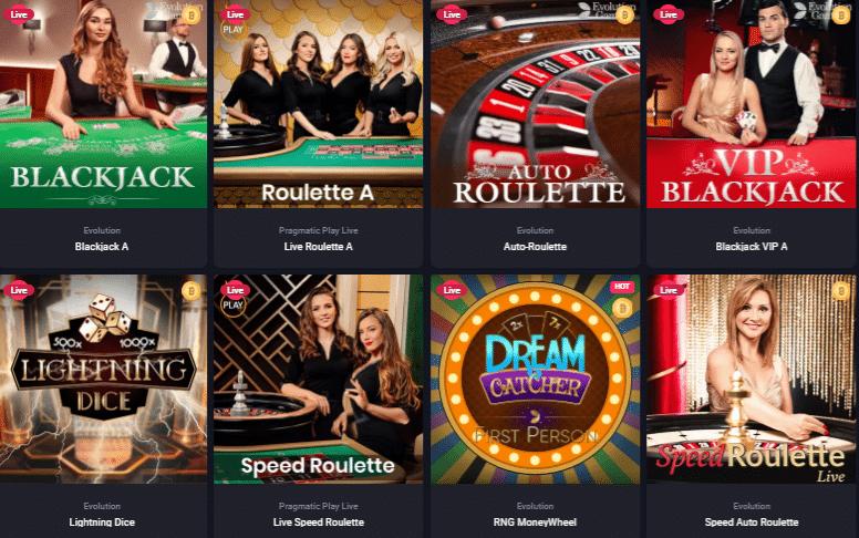 Live Dealer Games at WooCasino
