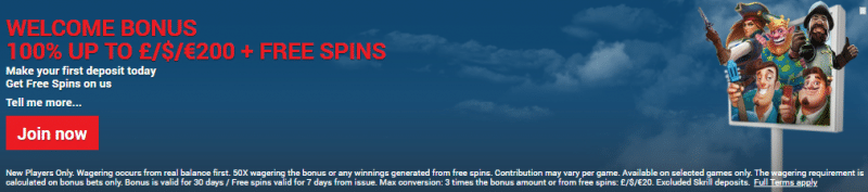 Get a $/£/€200 Welcome Bonus + 20 Free Spins at Slots Block Casino