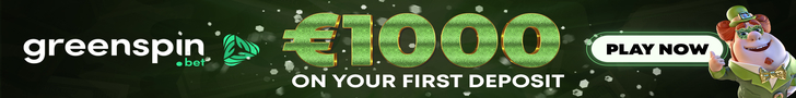 Get Up To €1000 + 300 Free Spins at GreenSpin Casino