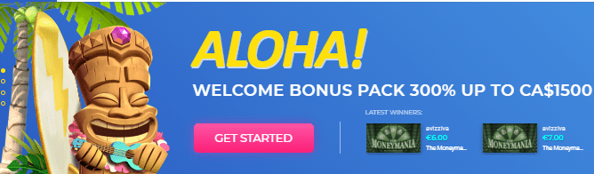 Get a $1500 Welcome Bonus Package at Surf Casino