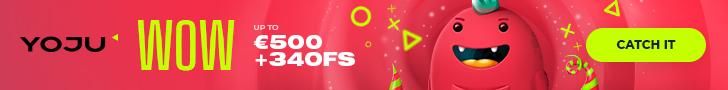 Get a €/$500 Welcome Bonus + 340 Spins at YOJU Casino