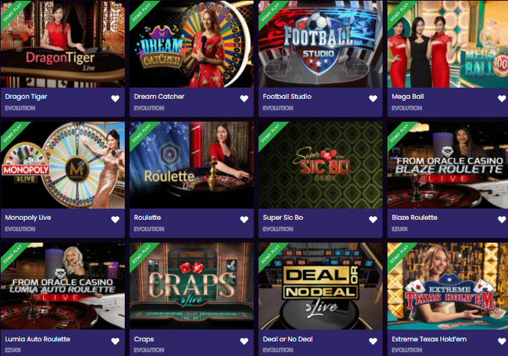 Popular Live Dealer Games at Betplay.io Casino