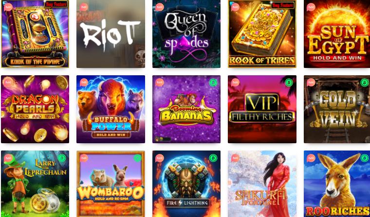 Popular Games at Casino Rocket