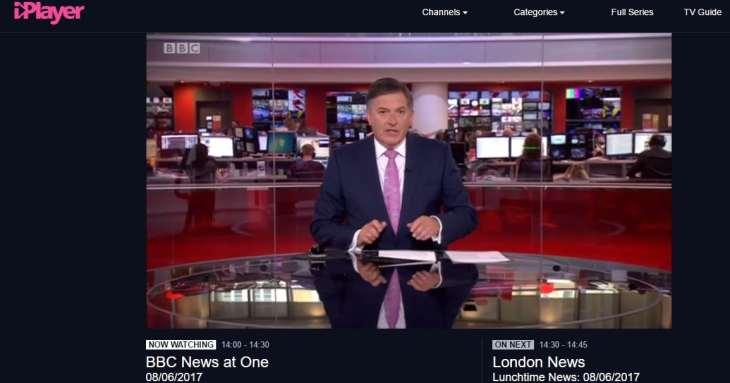 BBC iplayer outside London