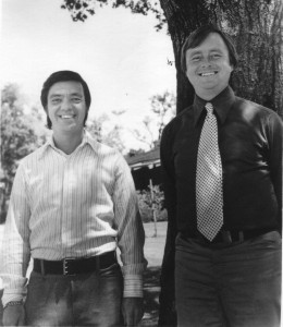 Hal Puthoff (left) with Ingo Swann in the mid-1970s