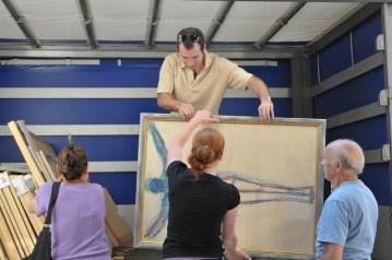 Il trasporto - Preparando la mostra del 2015 alla Pinacoteca di Varallo Sesia