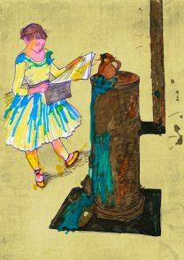 Ballerina presso una stufa – di Edgar Degas 🍏 Ri-visto da Lucia