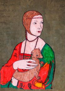 Dama con l'ermellino – di Leonardo da Vinci 🍏 Ri-visto da Rosangela