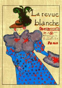 La revue blanche – di Henri de Toulouse-Lautrec 🍏 Ri-visto da Antonietta