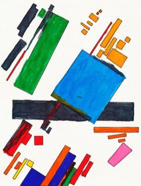 Suprematist Composition – di Kazimir Malevich 🍏 Ri-visto da Antonietta