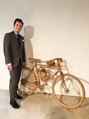 Daniele Guidi con Bicicletta a motore