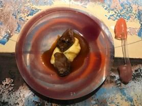 """Guanciale e patate - Su piatto piano e ditali """"uso posate"""" in silicone"""