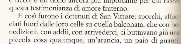 Grazie detenuti di San Vittore