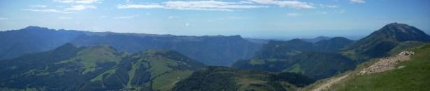 Panorama dal Monte Baldo in una splendida giornata di sole