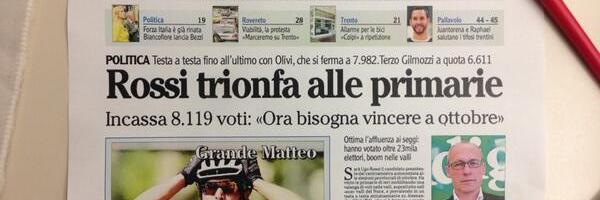 Ugo Rossi è appena stato eletto candidato Presidente