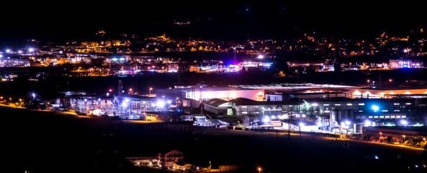 La notte di una zona industriale