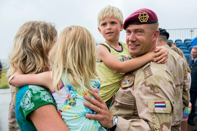 Reuniting Military Officer with Family