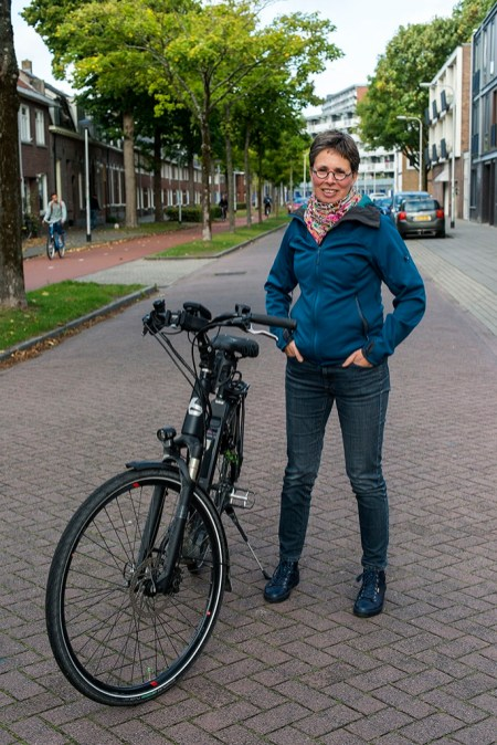 Woman with MS and Bike