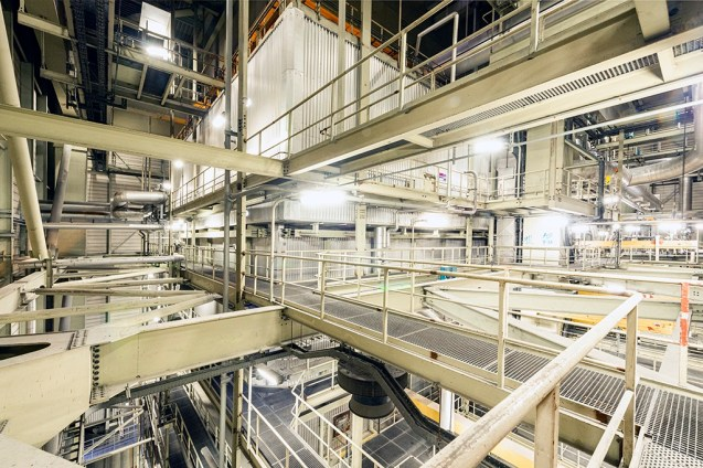 Reportage: Amer Centrale Power Plant: Boiler from Above