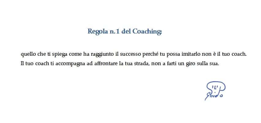 regola n 1 del coaching