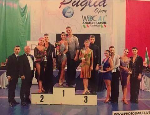 """Danza Sportiva. Pioggia di successi per la Cuban Club di Abbasanta alla """"Puglia Open"""""""