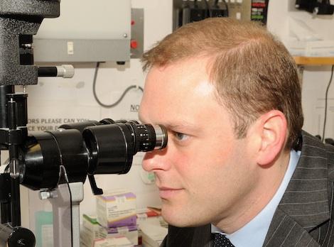 Simon Taylor a Consultant at the Royal Surrey County Hospital who has been nominated for a Macular Society Award Nomination