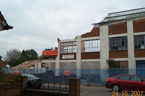 Another view of demolition under way. Picture courtesy of Gordon Bryant.