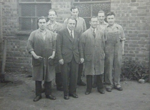 Some of Nelco's staff – date unknown. another uncle of mine, Les Brookes, is pictured