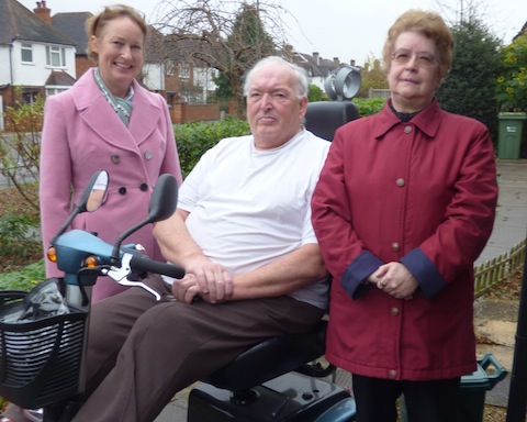 Community Connectors' co-ordinator Denise Graves (left) with Ray Ashcroft, who has participated and benefitted from the scheme, and Connector Pat Stacey.