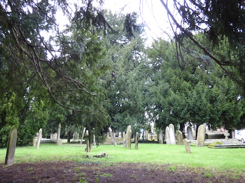The west churchyard.