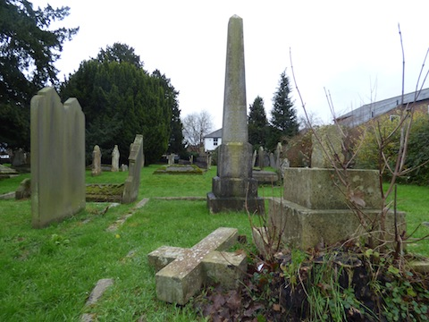 The obelisk is part of the memorial to the Paynter family. Samuel Paynter was rector in the 19th century, and was succeeded by his son Francis.