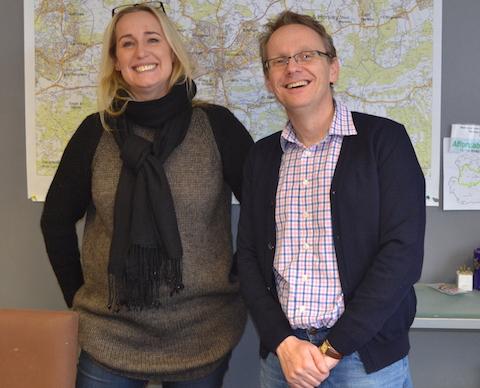 Operations manager Wendy Watson and Neil Mason.