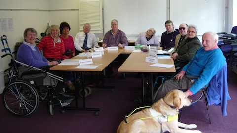 The board of directors of the Surrey Coalition of Disabled people.