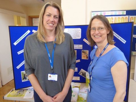 Emma Craig and Anne Woodward from the Spinney Children's Centre.