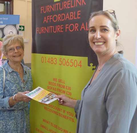 Cllr Sheila Kirkland with Wendy Watson from Furniture Link.