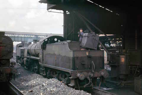 One of Dave Salmon's photos taken at the coaling stage at Guildford station in 1967.