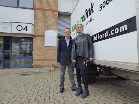The chief executive of Furniturelink Guildford, Neil Mason, and operations manager Wendy Watson.