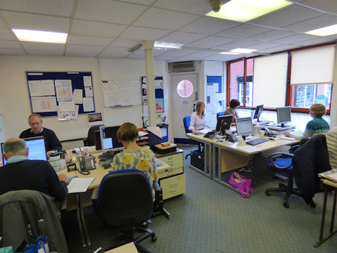 Advisors at work at Citizens Advice Guildford.
