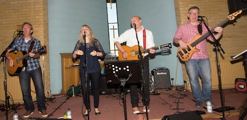 Sammy Rat and the resonators played a mix of their style of Americana folk, blues and country songs.