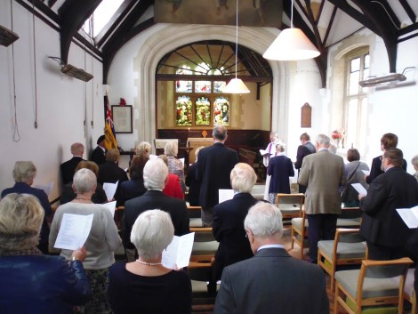 The service in St Francis Church, Littleton was attended by around 30 people.